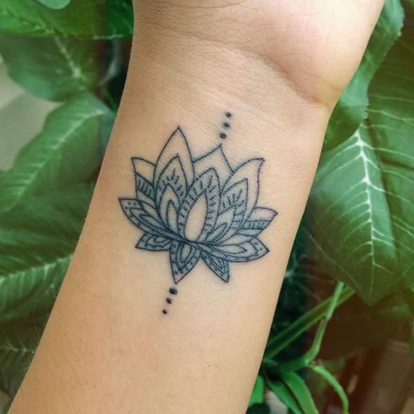 best semicolon flower tattoo