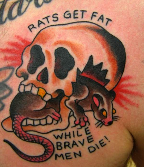 rats get fat tatto meaning