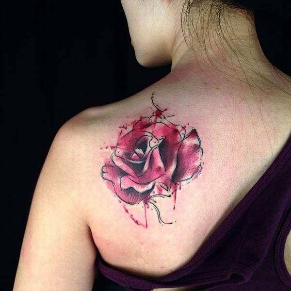 Beautiful Rose Tattoos Design