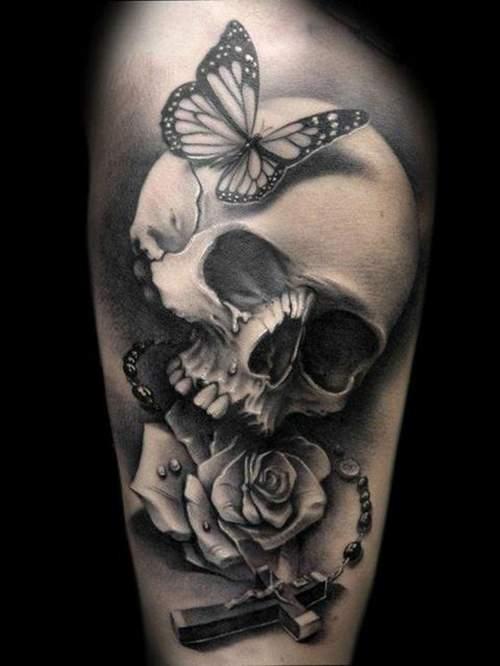RoseSkull Tattoo