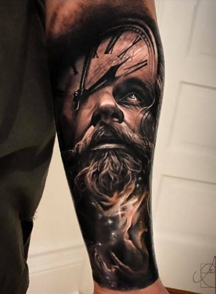 Father Time Tattoo