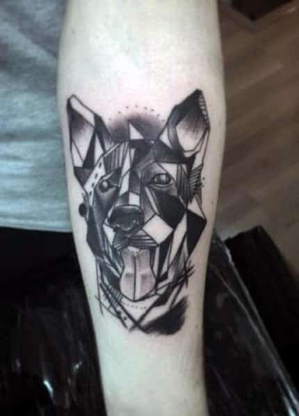 Geometric Dog Tattoo