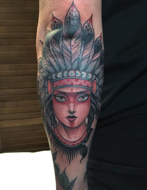 Native Forearm Tattoo