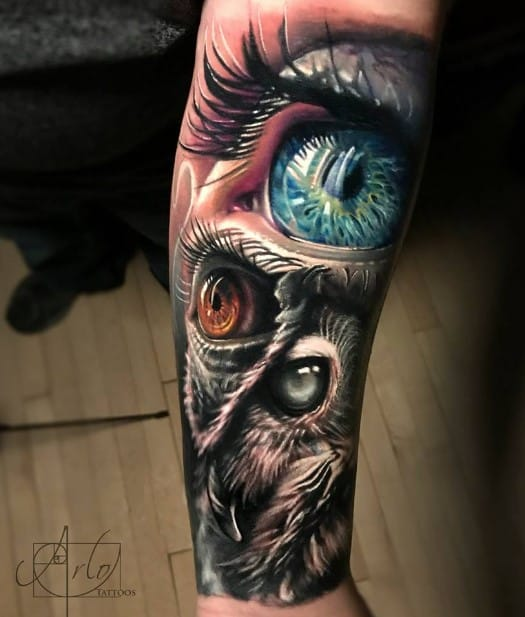Owl Eye Tattoo