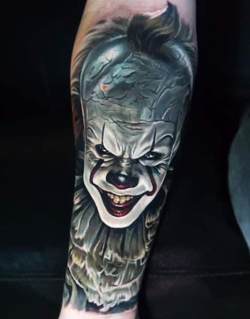 Pennywise Forearm Tattoo