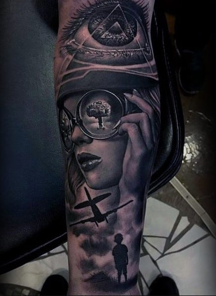 Realistic And Classy Inner Forearm Tattoo